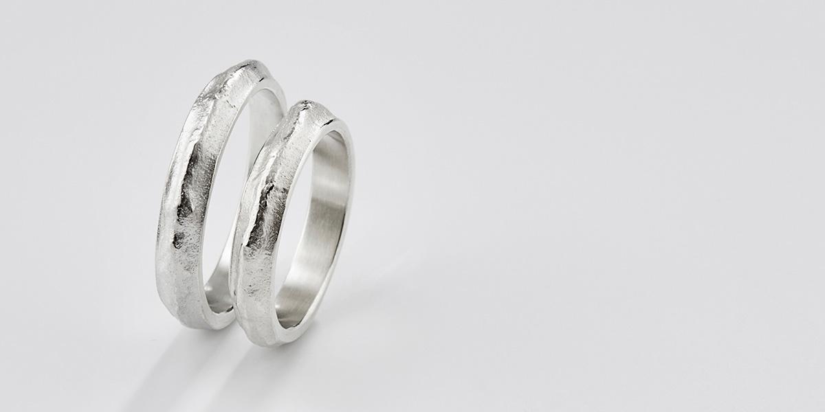 Unieke trouwringen in 18k wit goud