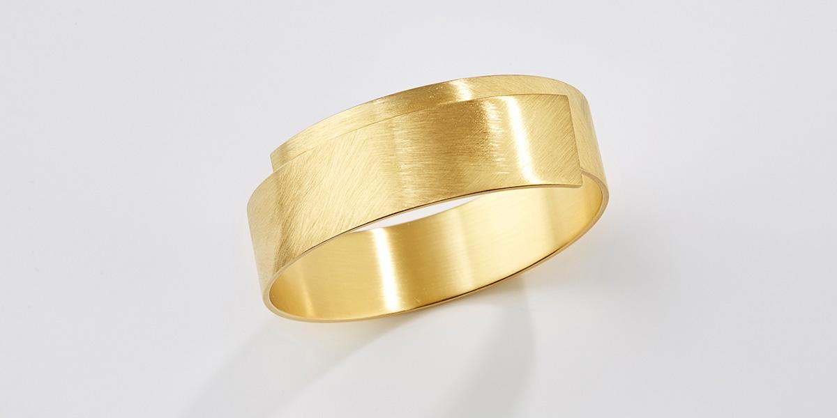 Sculpturale armband, 18k goud