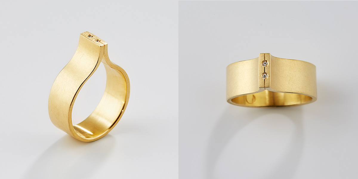 18k wit gouden ring met witte diamantjes