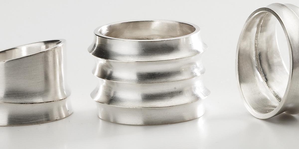 Unieke 18k wit gouden ringen