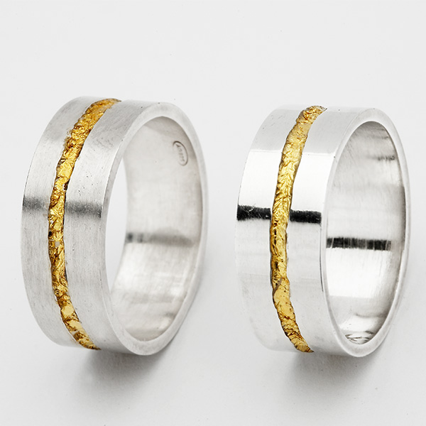 Unieke trouwringen, 18k goud