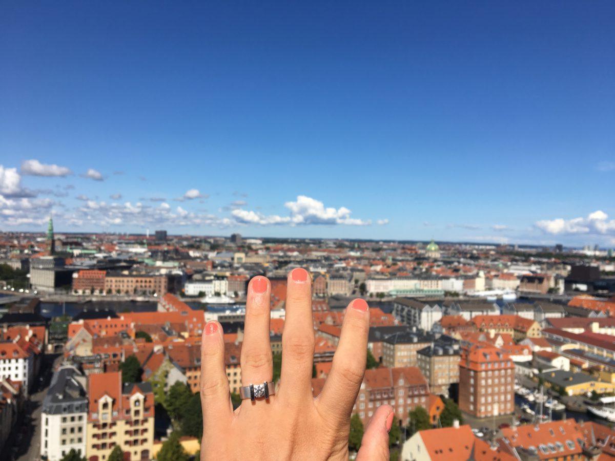 Engagement ring around the world