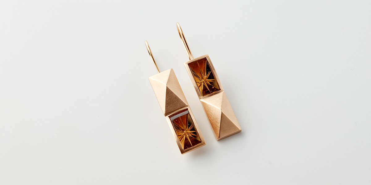 Earrings doubble Pyramid Starflower_Rembrandt Jordan