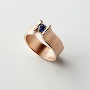 Tension Ring Blue Sapphire