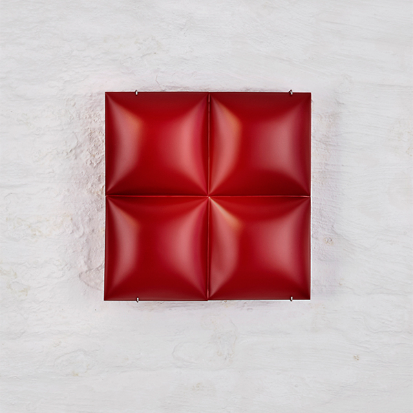 Red Square_Reversible Wall Sculpture_REMBRANDT JORDAN