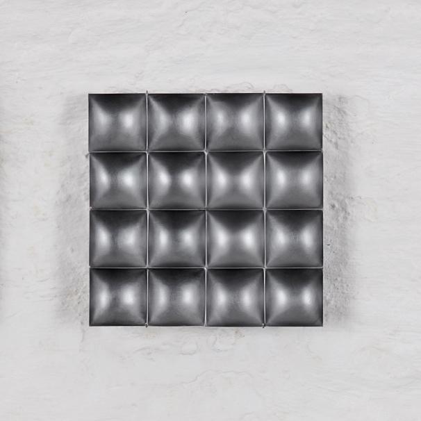 Square 4 2_Reversible silver wall sculpture_REMBRANDT JORDAN