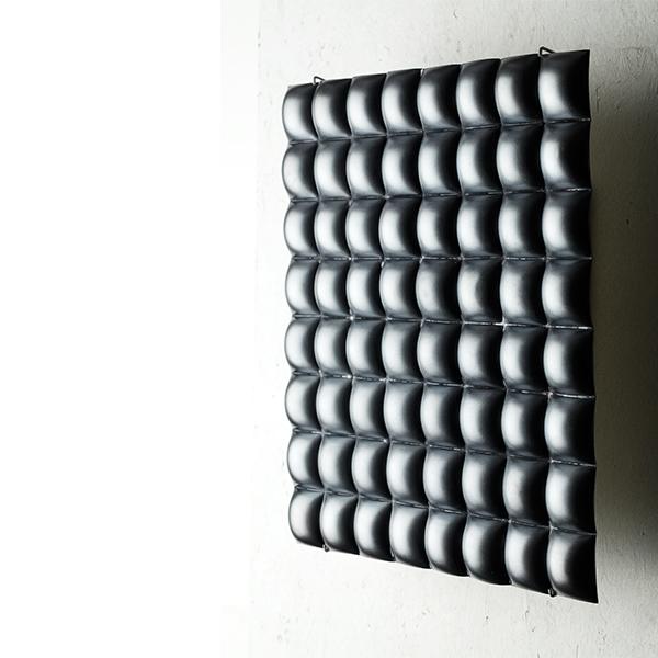Square 4³ Black Reversible Silver Wall sculpture_REMBRANDT JORDAN